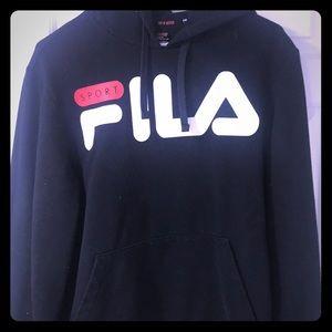 Black, FILA Hoodie